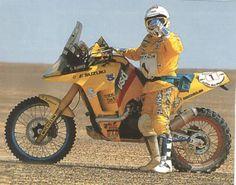 Gaston Rahier, Suzuki, Dakar Rally.