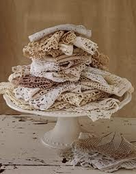 I love doilies. I have a so many that my family has made over the years.
