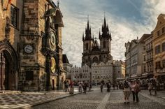 Prague is SO high up on my list. Old Town Square, Prague, Czech Republic Places In Europe, Places To Travel, Places To See, Travel Pics, Prague Old Town, Prague Castle, Prague 1, Prague Cathedral, Prague Clock