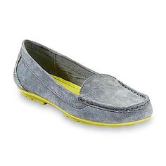 Women's casual Kammey Gray Genuine Suede Loafer --  $9.99, @ Sears  (they have a padded insole, and arch so they're very comfortable!)