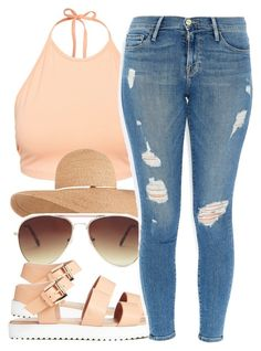 A fashion look from January 2016 featuring NLY Trend tops, Frame jeans and Forever 21 sunglasses. Browse and shop related looks. Fancy Dress Outfits, Swag Outfits, Dope Outfits, Casual Outfits, New Fashion Clothes, Teen Fashion, Fashion Outfits, Woman Outfits, Petite Fashion