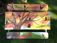This gorgeous picnic table was painted for our Picnic for the Planet celebration on Earth Day. Beautiful!