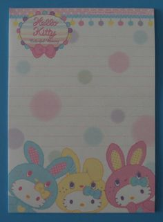 Sanrio Hello Kitty Colorful Bunny Small Letter Sets~2,90€