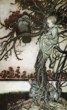 A Polar Bear's Tale: ...in the Rowan tree... Arthur Rackham
