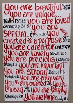 Canvas Painting Scripture Painting Bible Verses on Canvas Painting Red Printing Whimsical Art. $100.00, via Etsy.