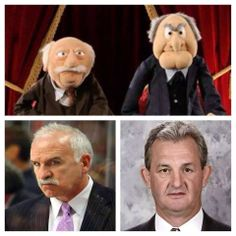 Muppets NHL Coaches.  Love this combination.  How will I ever look at them the same?  :-)