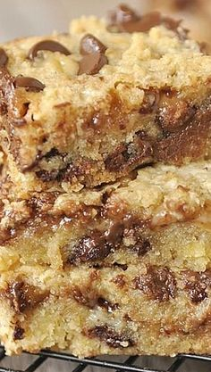 Ooey, Gooey Chocolate Chip and Toffee Bars