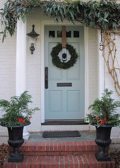 Love the door color . . . could I get away with something that light on my red brick house?