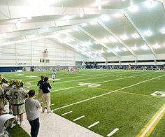 Oosterbaan Field House in Ann Arbor, Michigan. An unreal place to play lacrosse.