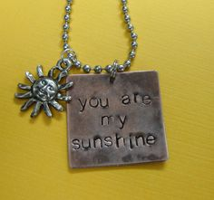 You are my sunshine necklace by TheJewelryChicks on Etsy, $25.00