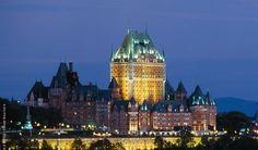 Quebec. Una ciudad de cuento. Tuve la suerte de poder alojarme en el castillo Frontenac