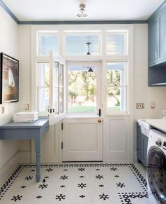 """Style Me Pretty Living on Instagram: """"Another Saturday another utility room to totally gush over 😍 by: @timbarberltd"""" Mudroom Laundry Room, Laundry Room Remodel, Laundry Room Cabinets, Farmhouse Laundry Room, Laundry Room Design, Laundry Area, Farmhouse Door, Modern Laundry Rooms, Modern Room"""