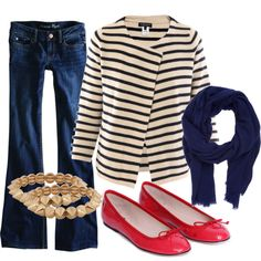 The striped blazer outfit of my dreams, except that the blazer is $590. In my dreams, it's only $59. That's why dreams aren't real.