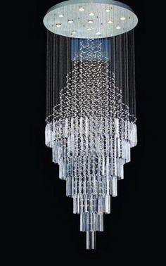 fontaine de lumi re ronde en spirale en cristal de swarovski envisageable de toutes formes info. Black Bedroom Furniture Sets. Home Design Ideas