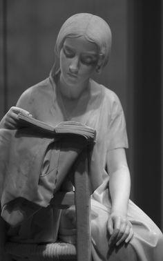 Pietro Magni. Girl reading.
