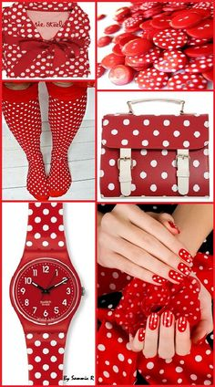 Polka Dots! Red and White! By Sammie R