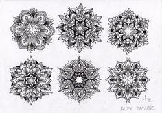 mandala flower tattoos - Google Search