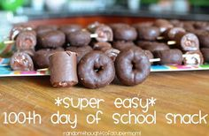 100 days of school-Little Debbie Donut Snack