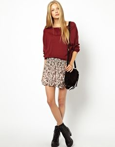 Ganni Bloomsbury Leopard Flippy Skirt