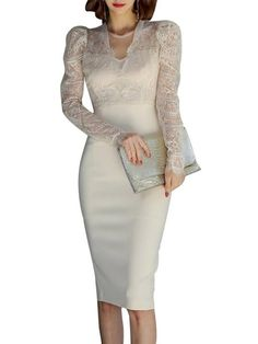 online shopping for Newdeve Mother The Bride Dresses Tea Length Lace Sheath Women's Formal Dresses Pagoda Sleeves from top store. See new offer for Newdeve Mother The Bride Dresses Tea Length Lace Sheath Women's Formal Dresses Pagoda Sleeves Mob Dresses, Formal Dresses For Women, Tea Length Dresses, Elegant Dresses, Beautiful Dresses, Fashion Dresses, Bridesmaid Dresses, Mother Of The Bride Dresses Long, Mother Of Bride Outfits