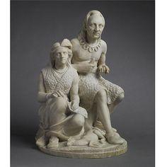 Edmonia Lewis - The Old Arrow Make, modeled 1866, carved 1872