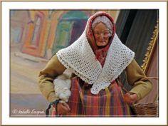 Provence, un santon en hiver... http://mistoulinetmistouline.eklablog.com http://www.my-art.com/isabelle-escapade/collections/provence