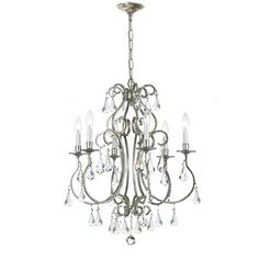 (CLICK IMAGE TWICE FOR UPDATED PRICING AND INFO) #home #ceiling #homeimprovement #homedecor #lighting  #lights #lightandfixture #chandeliers see more chandeliers at http://www.zbrands.com/Chandeliers-C35.aspx - Crystorama Chandeliers - Ashton 6 Light Mini Chandelier