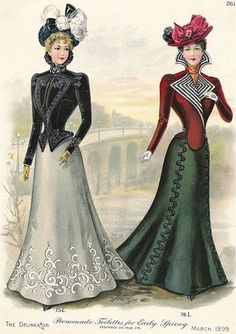 I LOVE these jackets.  Victorian Fashion Plate by DarKaso, via Flickr
