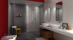 Colorobbia multi-finish tiles, virtual image, rendered with DomuS3D and mental ray