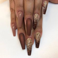 50 Incredible Ombre Nail Designs That Will Look Amazing In Every Season ombrenail ombrenaildesign ombrenailpolish nails 662803270141052375 Ombre Nail Designs, Acrylic Nail Designs, Nail Art Designs, Nails Design, Trendy Nails, Cute Nails, My Nails, Bronze Nails, Gold Nails