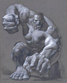 Hulk (Dr. Bruce Banner) (Savage Hulk persona) | art by Kevin Nowlan