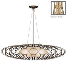 Allegretto Gold Pendant, 798540-2ST, by Fine Art Lamps - Traditional - Pendant Lighting - Masins Furniture