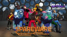 Spareware Mow your way through waves of humans to save mankind from itself in Spareware a 4-player co-op shooter with roguelike elements. Assemble your robot from spare parts and traverse through the cities of the future unlocking new equipment and abilities as you go. #Steam #indie #PC #shooter #Sparewaregame #YouTube #DaliHDGaming