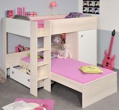 Loft bed for 6 year old beds cloud bunk apartments alluring amazing low ceiling with shelf Black Bunk Beds, Low Bunk Beds, Cabin Bunk Beds, Girls Bunk Beds, Triple Bunk Beds, Bunk Beds With Storage, Bunk Bed With Trundle, Modern Bunk Beds, Bed Storage