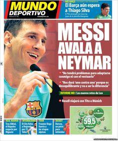 Los Titulares y Portadas de Noticias Destacadas Españolas del 18 de Julio de 2013 del Diario Mundo Deportivo ¿Que le pareció esta Portada de este Diario Español?