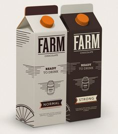 FARM Chocolate Milk (Concept) on Packaging of the World - Creative Package Design Gallery Smart Packaging, Milk Packaging, Chocolate Packaging, Food Packaging Design, Beverage Packaging, Bottle Packaging, Packaging Design Inspiration, Brand Packaging, Branding Design
