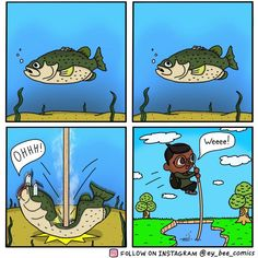 Sorry Fishy! | Animal Crossing: New Horizons | Know Your Meme Animal Crossing Fan Art, Animal Crossing Memes, Animal Crossing Characters, Fishing Humor, Fishing Rigs, Fandoms, Gaming Memes, Funny Comics, Funny Animals