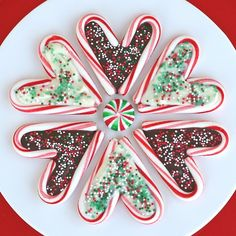 DIY Chocolate Filled Candy Cane Hearts!!