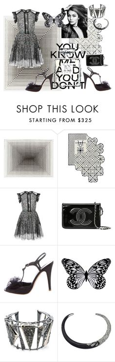 """""""Party NYE"""" by peppermax ❤ liked on Polyvore featuring Elie Saab, Chanel, Visionnaire and Alexis Bittar"""