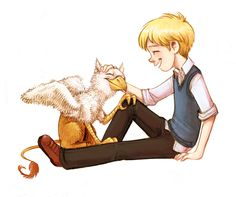 Klartch and Cat from The Pinhoe Egg, part of the Chrestomanci Chronicles by Diana Wynne Jones