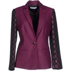 Phonz Says Black Blazer ($98) ❤ liked on Polyvore featuring outerwear, jackets, blazers, mauve, collar jacket, single breasted jacket, long sleeve jacket, multi pocket jacket and purple jacket