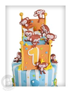 Monkeys Jumping on the Bed Cake toppers