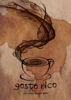 Gosto Rico - coffee poster by zakaryan on DeviantArt I Love Coffee, Coffee Art, Coffee Shop, Decoupage, Cuppa Joe, Mediums Of Art, Coffee Poster, Coffee Culture, Coffee Drinkers