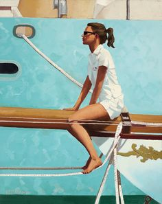 Jack Vettriano Masthead painting for sale - Jack Vettriano Masthead is handmade art reproduction; You can shop Jack Vettriano Masthead painting on canvas or frame. Jack Vettriano, Edward Hopper, The Singing Butler, Monaco, Charles Trenet, Yacht Club, Art Plastique, Paintings For Sale, Cool Girl
