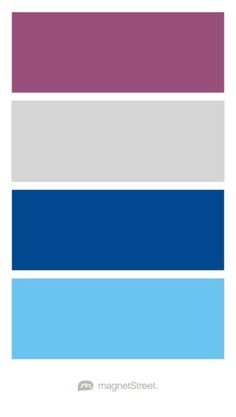 Mulberry, Silver, Classic Blue, and Light Blue Wedding Color Palette - custom color palette created at MagnetStreet.com