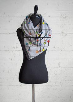 Abstract Circles Fashion Accessory - Wrap Shawl