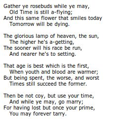 to the virgins to make much of time poem robert herrick Robert herrick's poem: to the virgins, to make much of time.