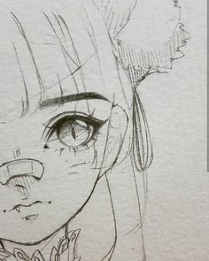Introduction to Pencil Drawing Supplies & Techniques Cute girl with pony tail and nose bandage anime chibi eyes bangs Nose Drawing, Manga Drawing, Manga Art, Anime Art, Cute Eyes Drawing, Chibi Drawing, Sketch Drawing, Drawing Art, Drawing Reference