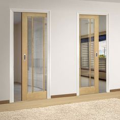 deanta unilateral pocket norwich real american oak veneer door with clear bevelled safety glass unfinished