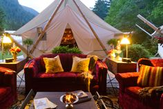 Located in the pristine Clayoquot Sound World Biosphere, on the wild west coast of Vancouver Island, British Columbia, Clayoquot Wilderness Resort is an exclusive 21st century safari style Canada glamping destination and adventure resort - great for your airstream!